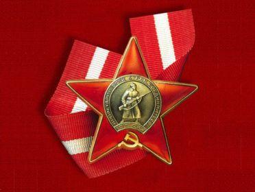 "Орден ""Красной звезды"". Приказ от 26 марта 1945 года. Вручен 7 апреля 1945 года"