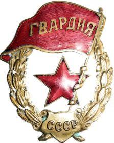 Советский гвардейский знак (Нагрудный знак гвардии)