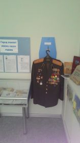 Китель деда в Музее боевой славы  д/с № 120 города Дзержинска