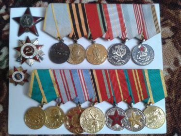 Папины ордена и медали