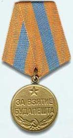 """Медаль""""За взятие Будапешта"""""""
