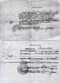 Удостоверения, справки о награждении орденами и медалью