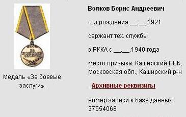 медаль Волкова Б.А.