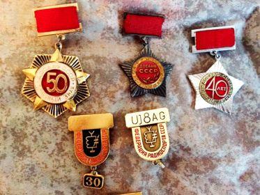 Почётные знаки ДОСААФ СССР