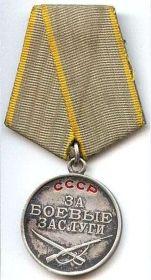 """медаль """"За боевые заслуги"""" и много медалей за освобождение городов от фашистов и других."""