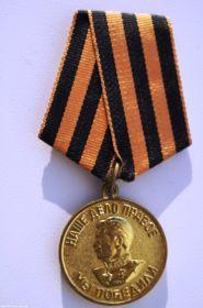 """   Медаль "" За победу над Германией""."