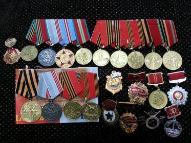 Орден Отечественной войны, медаль за оборону Советского Заполярья, медаль за Победу над Германией 1941-1945г, Орден Маршала Жукова