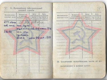 Военный билет стр 4