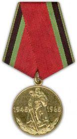 Медаль «Двадцать лет победы в Великой Отечественной войне 1941–1945 гг.»