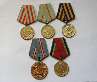 1.Медаль за оборону Москвы, 01.09.1945 г., Ч № 034558