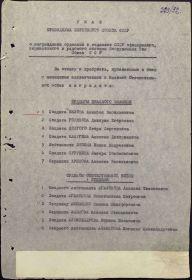 Орден отечественной войны 1 степени (1 лист Указа)