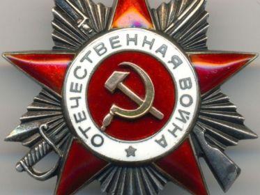 орден Отечественной войны II степени(боевой)