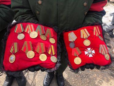 """Медаль """"За боевые заслуги"""", медаль """"За победу над Японией"""""""