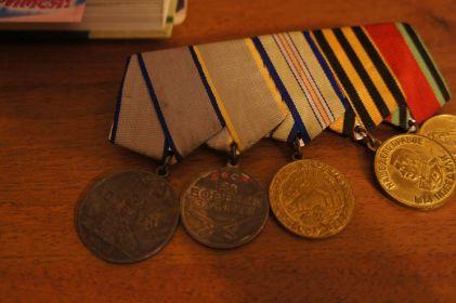 .Медаль за боевые заслуги,медаль за отвагу,медаль за оборону Кавказа,Орден Отечественной войны 1 степени