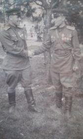 Орденом красной звезды. медалью за взятие Берлина. медалью за освобождение Варшавы. медалью за победу над Германией