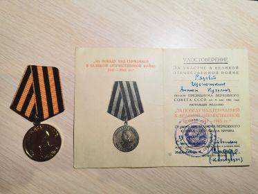 Медаль «За победу над Германией в Великой Отечественной Войне 1941-1945 гг.