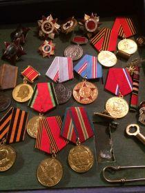Орден красного знамени, орден отечественной войны, медаль за боевые заслуги