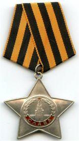 """Медаль """"За боевые заслуги"""", Орден """"Слава 3 степени"""", медаль """"За победу над Германией"""""""