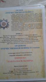 Орден Великой Отечественной Войны II степени