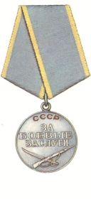 За боевые заслуги, за оборону Ленинграда, За взятия Кенигсберга, орден Отечественной войны 1-степени.