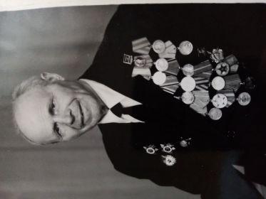 Медаль *За боевые заслуги*, орден *Красной звезды*, ордена *Отечественной войны первой и второй степени