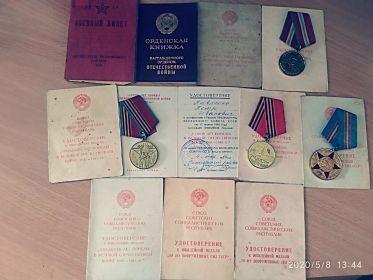 """Медаль """"За победу над Германией"""" в Великой Отечественной войне, орден Отечественной войны второй степени и другие медали."""