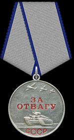 09.11.1943-Медаль «За отвагу», 18.02.1944-Медаль «За отвагу», 09.05.1945-Медаль «За победу над Германией в Великой Отечественной войне 1941–1945 гг.»