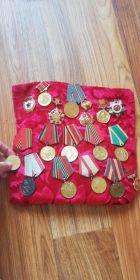 орден ВОВ 2 степени,10 удостоверений к медалям за победу над Германией и юбилейные медали