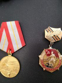 Орден Красной звёзды, орден Отечественной войны, медаль за отвагу, медаль за взятие Будапешта, медаль за освобождение Праги, медаль за освобождение Веня, медаль...