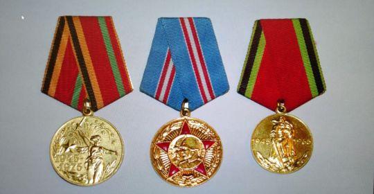 Награжден медалью за Победу над Германией в Великой Отечественной Войне 1941=1945 гг