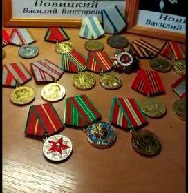 За Отвагу, За взятие Венны, Орден Великой Отечественной войны, а также другие  медали СССР