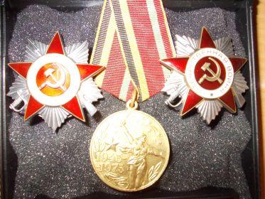 Ордена Отечественной войны первой и второй степени.
