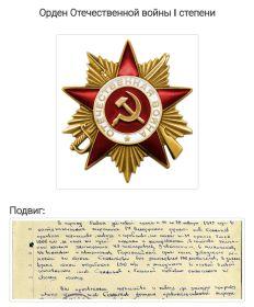 Орден Красной звёзды, Орден красного знамени, Орден Отечественной войны 1 степени, Орден Славы 3 степени.