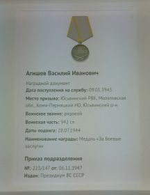 "Медали ""За боевые заслуги"""