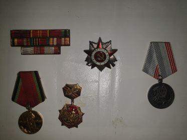 Медаль за победу над Японией, 25 лет победы в великой отечественной войне 1941-1945, 30 лет победы в великой отечественной войне 1941-1945, орден отечественной войны номер 1429568