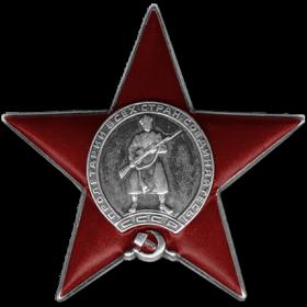 Орден Красной Звезды Медаль «За победу над Германией в Великой Отечественной войне 1941–1945 гг.» Медаль «За освобождение Варшавы»