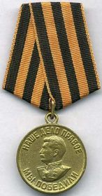 «За победу над Германией в ВОВ 1941—1945 гг.»