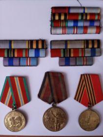 медаль за отвагу, медаль за победу над Германией, медаль за взятие города Вена