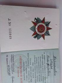 Медаль «За боевые заслуги» Медаль «За победу над Германией в Великой Отечественной войне 1941–1945 гг.» Медаль «За победу над Японией» Орден Отечественной войны II степени