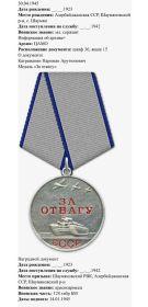 2 ордена Красной звёзды , многочисленны медали за отвагу