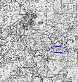 Карта г.Холм