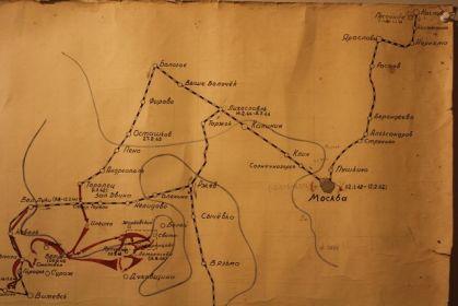 Карта боев 234-й СД.