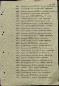 Строка №6550 в Указе Президиума Верховного Совета СССР о награждении орденами и медалями Союза ССР офицерского, сержантского и рядового состава Вооруженных сил СССР