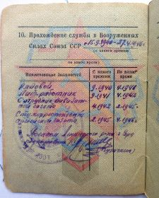 Прохождение службы в Вооруженных силах СССР