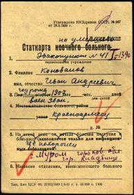 СТАТКАРТА Коновалов Иван Андреевич