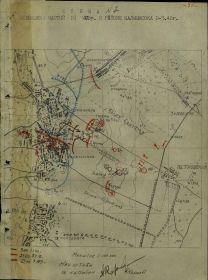 Схема №7: Положение частей 31 МСБр в районе Калмыковка с 3 по 5.1.1943 из Отчета по проведенной операции 31 мсбр