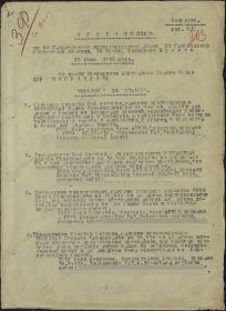 Приказ № 016/н по 64 Гвардейскому артиллерийскому полку 31 Гвардейской стрелковой дивизии, 16 армии, Западного фронта