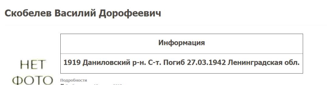 Строка с сайта Даниловгерои.ру