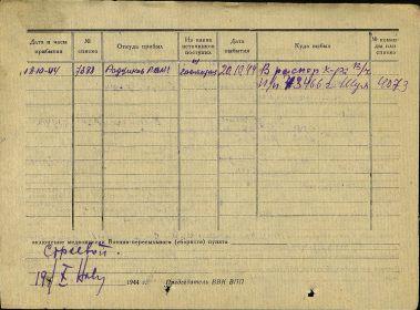 Карточка учёта военнослужащего - 2 стр.