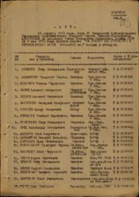 О выдаче медали «За победу над Германией в Великой Отечественной войне 1941–1945 гг.»